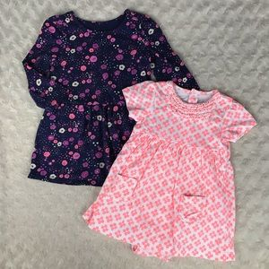 Circo & Carter's Dress Bundle Baby Girl 9 & 12M